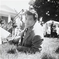 rock hudson on the set of giant by peter basch