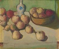 stilleben mit äpfeln und vase by willibald kramm