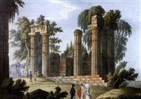 vue du temple de iunon, et lucina a girgenti by johann thomas hauer