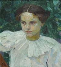 porträt eines mädchens mit weisser bluse by frieda menshausen-labriola