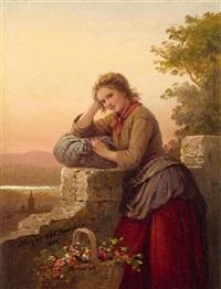 flower girl by johann georg meyer von bremen
