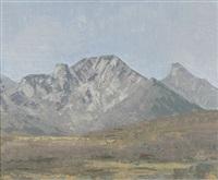 weite gebirgslandschaft mit dem stockhorn by alfred glaus