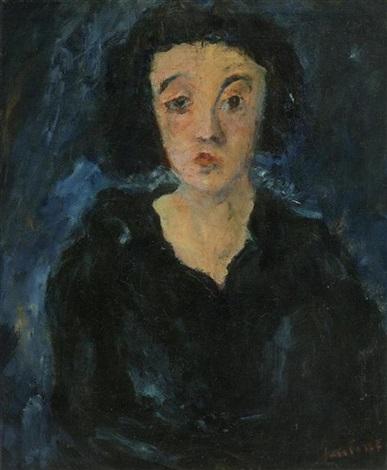 portrait de femme en face by chaïm soutine