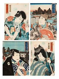 vier ôban (4 works) by utagawa toyokuni (toyokuni i)