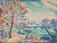 pont des arts (paris) by paul signac