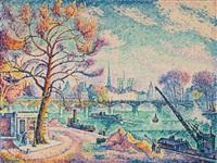 pont des arts (paris) by paul signac