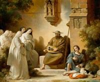 der drehleierspieler by alexandre-évariste fragonard