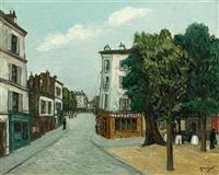 scène de rue à montmartre by alphonse léon quizet