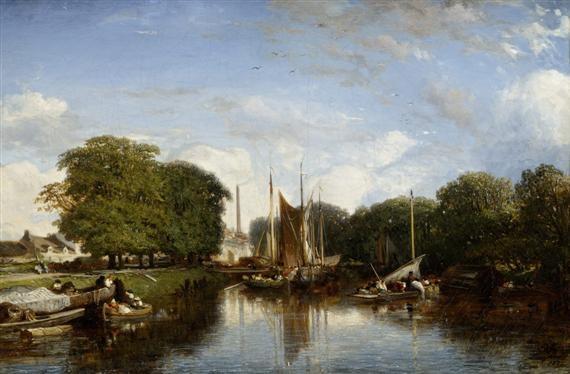 bords de rivière bateaux by jules dupré