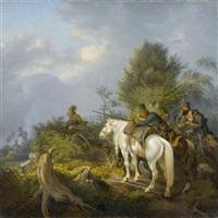 soldaten im hinterhalt by peter heinrich lambert von hess