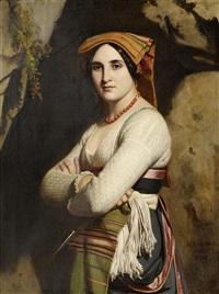 junge italienerin by alexandre-jean-baptiste hesse