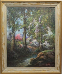 the stream in the woods by george a. newman