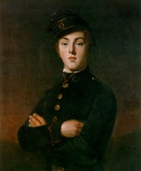 a portrait of a young cadet by august hervieu