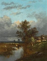 landschaft mit kühen by jules dupré