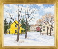 village of trumbauersville, bucks county by william jachwak
