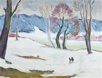 winterlandschaft by ivan ivanovich godlevsky