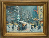 memories of nyc blizzard, 2nd ave by philip a. corley