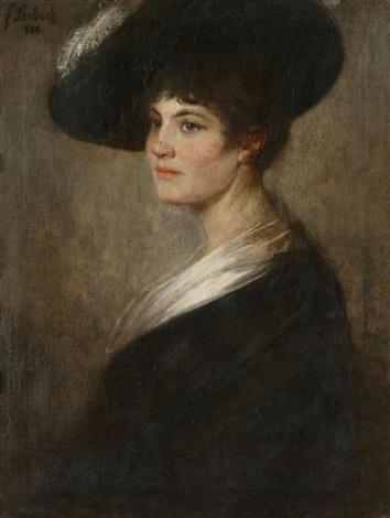 portrait einer dame by franz seraph von lenbach