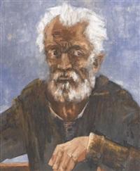 porträt eines älteren mannes by walter krebs