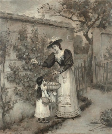 beim äpfelpflücken by pierre outin