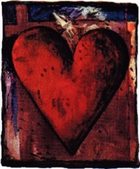 heart vii by jim dine
