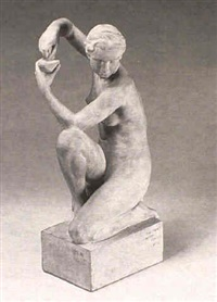 nude with oil lamp by jean-marie camus