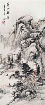 寒江钓艇 by yao shuping