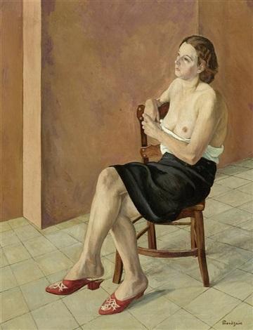 femme assise by simon françois stanislas mondzain