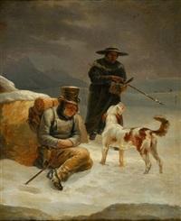rettungsszene auf dem grossen st. bernhard by joseph simon volmar