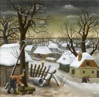 wintermorgen by ivan generalic