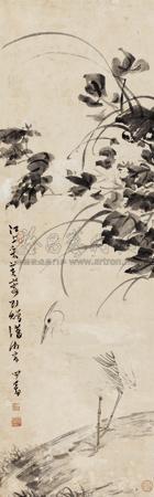 芙蓉白鹭 by pu ru
