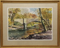point pleasant bridge over tohickon creek by ranulph bye