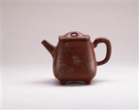 large quadrilateral teapot by xu daming