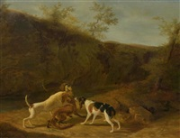 die fuchsjagd by jacques-laurent agasse and wolfgang adam töpffer