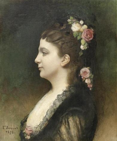 portrait einer schönen dame by léon joseph florentin bonnat