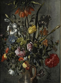 blomsterstilleben by jacob woutersz vosmaer