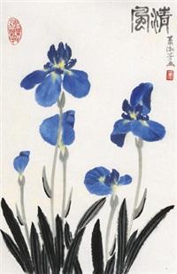 清风 镜心 设色纸本 by xiao shufang