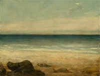 strand von saintonge by louis-auguste auguin and gustave courbet