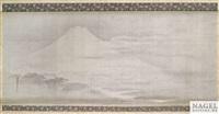 der fuji an einem feuchten sommermorgen by moriteru tsuruzawa