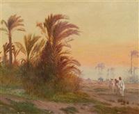 beduinen in einer oase bei cairo by otto pilny