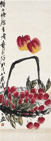 佳果图 fruits by qi baishi