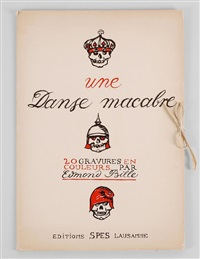 une danse macabre (portfolio of 20) by edmond bille