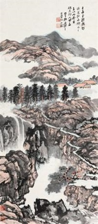 巴山岩居图 by zhang daqian