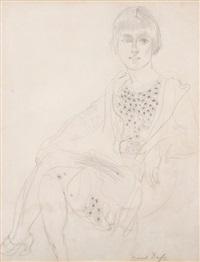 portrait de jeune fille by raoul dufy