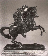 charging knight with lance by g. abell