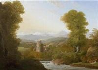 schweizer landschaft mit burgruine by anton albers the elder