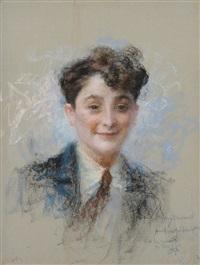 portrait eines jungen mannes by lucien lévy-dhurmer