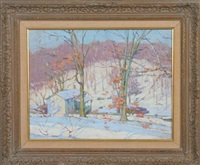 snow scene by william chadwick