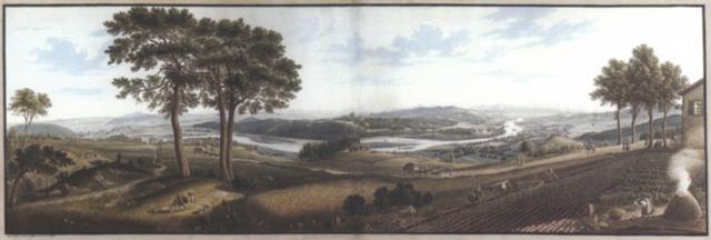 grosses panorama vom bözberg aus auf das aaretal mit brugg königsfelden habsburg schinznach wildegg und die alpen im hintergrund by rudolf huber