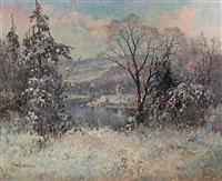 winter, valley forge by george a. newman